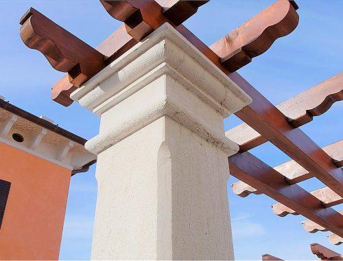 capitello colonna in pietra di prun