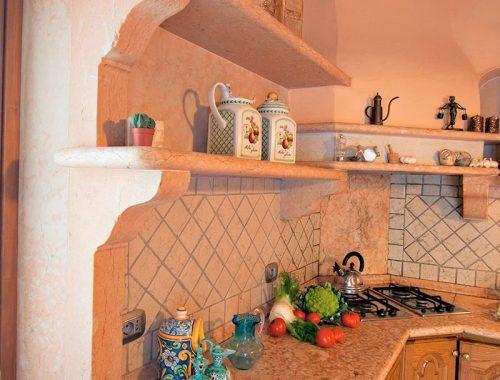 mensole cucina in pietra di prun levigata