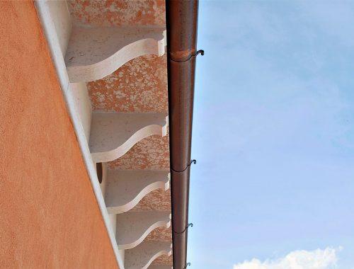 mensole terrazzo con grondaia